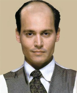 Bald Johnny Depp
